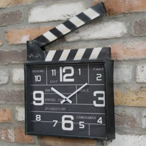 Movie Clapboard Clock