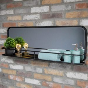 Industrial Shelf with Mirror