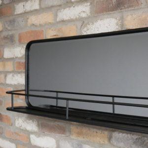 Industrial Shelf with Mirror
