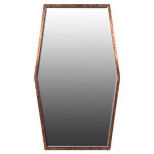 Hexagonal Copper Framed Mirror