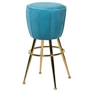 Turquoise Retro Style Bar Stool