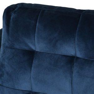 Navy Velvet 2 Seater Sofa