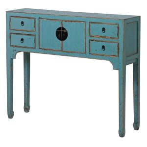 Blue Antique Style Console Table