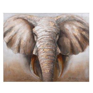 Large Elephant Canvas Painting