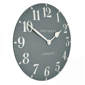 """20"""" Arabic Wall Clock Flax Blue"""