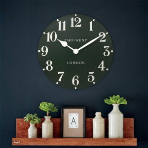 20'' Arabic Wall Clock Forest Green