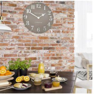 """20"""" Arabic Wall Clock Mink"""