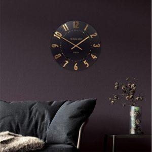 20'' Mulberry Wall Clock Onyx