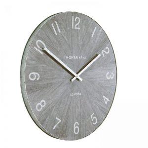 "22"" Wharf Wall Clock Limestone"