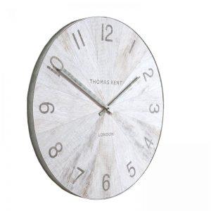 """22"""" Wharf Wall Clock Pickled Oak"""