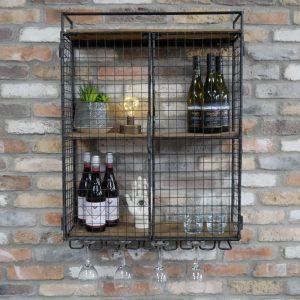 696127 Industrial Wine Wall Unit