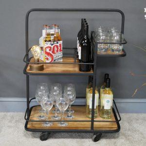696128 Wine Trolley