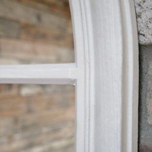 696130 White Window Pane Mirror