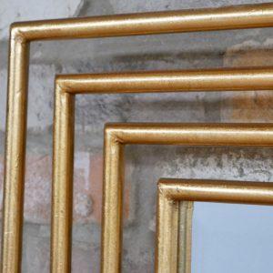 696132 Gold Rectangle Mirror