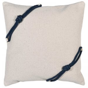 Cushion Cover with Blue Rope Detail