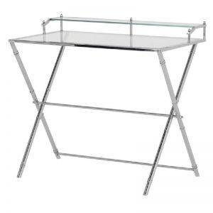 Stainless Steel & Glass Desk