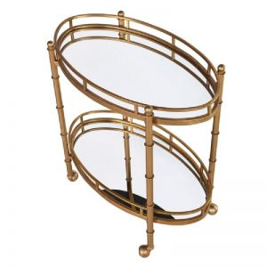 Vintage Style Mirrored Serving Trolley