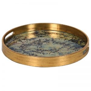 Gold Tray with Blossom Design