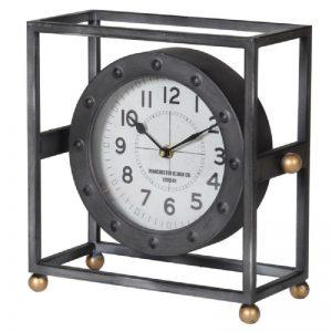 Metal Framed Mantel Clock