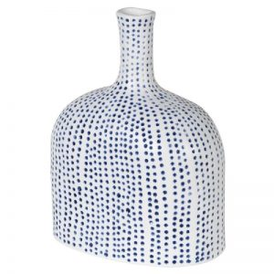 Small Blue Spotty Vase