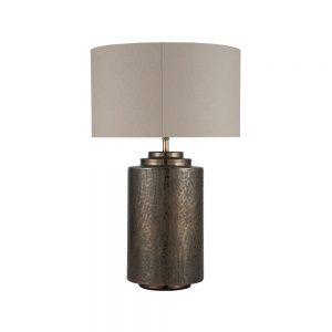 Zuri Large Antique Brass Metal Pot Table Lamp