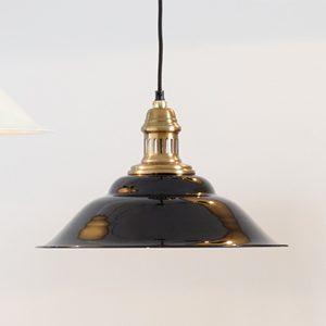 Macchiato Black and Gold Metal Cafe Pendant Light