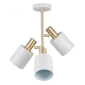 Biba White & Brass 3 Light Ceiling Pendant