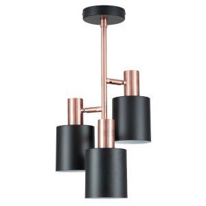 Biba Black & Antique Copper 3 Light Ceiling Pendant
