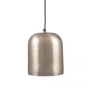 Kochi Antique Silver Metal Hammered Dome Pendant Light