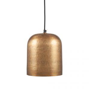 Kochi Antique Brass Metal Hammered Dome Pendant Light