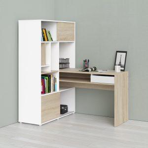 Function Plus Desk & Bookcase