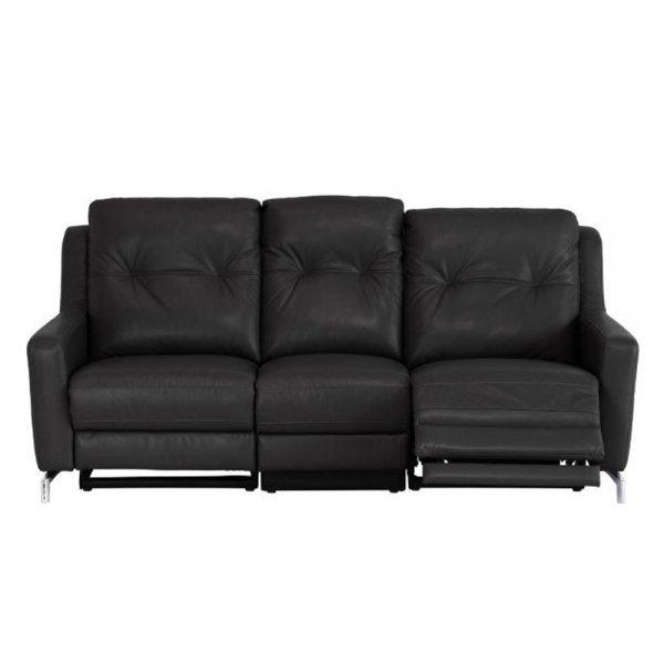 Warren-leather-3-seater-recliner-black