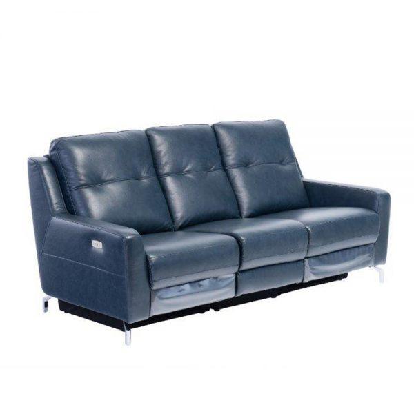 Warren-leather-3-seater-recliner-midnight-blue