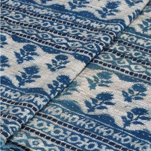 Blue And White Rose Pattern Throw