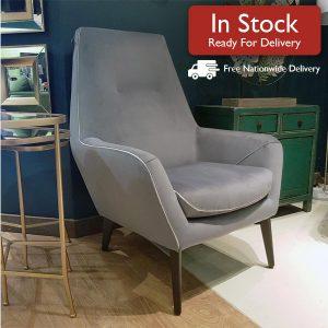 Catania Armchair Grey In Stock Image