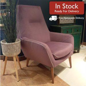 Catania Armchair Purple In Stock Image