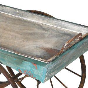 Distressed Blue Cart