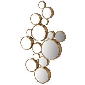 Gold Finished 15 Circle Mirror