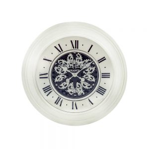 Antique-Cream-Mirrored-Face-Antique-Style-Moving-Gears-Clock