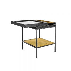 Antiqued-Black-Wooden-Display-Small-Side-Table