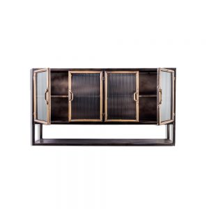 Black-Antique-Gold-Metal-Wall-Cabinet-with-Shelf