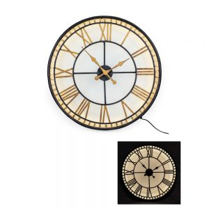 Black-and-Gold-Back-Lit-Glass-Wall-Clock