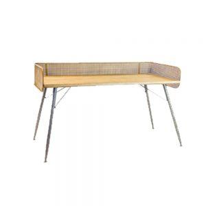 Metal-Rattan-Retro-Desk